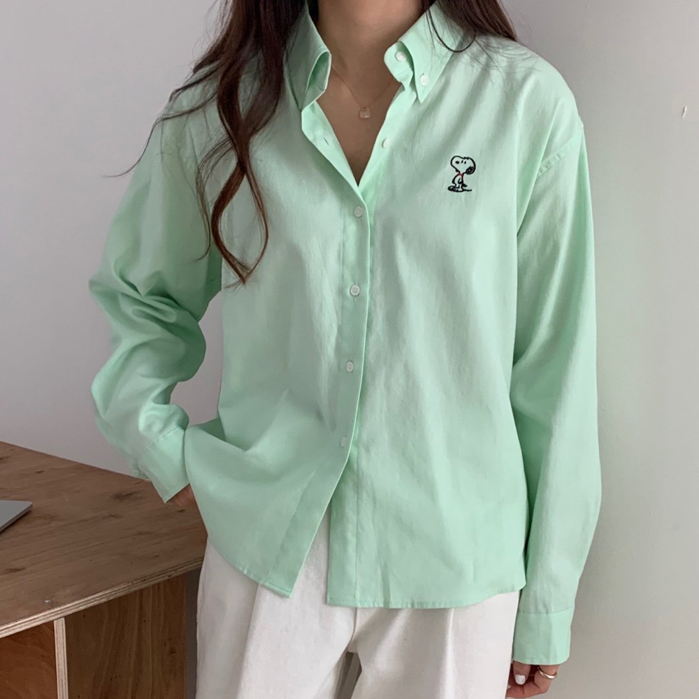스누피 옥스포드 셔츠 [무배.5color]